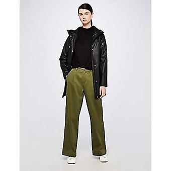 Meraki Women's Boxy High-Neck Cotton-Blend Sweater , Black, EU XS (US 0-2)