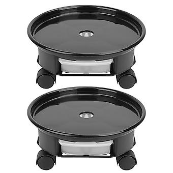 Round Plant Pot Stand Holder Trolley
