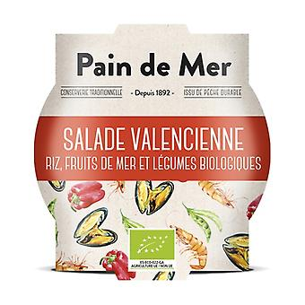 Valencian salad: organic rice salad with seafood 250 g