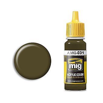 Ammo by Mig Acrylic Paint - A.MIG-0031 Spanish Green-Khaki (17ml)