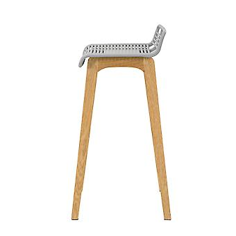 SoBuy FST76-HG, Kitchen Breakfast Barstool, Bar Stool con PP Seat & Oak Wood Legs