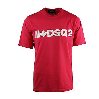 Dsquared2 DSQ2 Slouch Fit Red T-Shirt