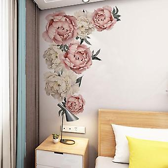 Flower Wall Stickers - Romantic Flowers Home Decor For Bedroom, Living Room