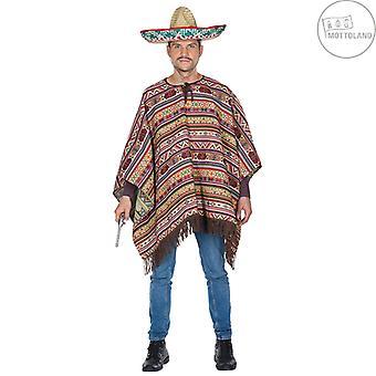 Poncho messicano generale Messico Texan Costume Carnival