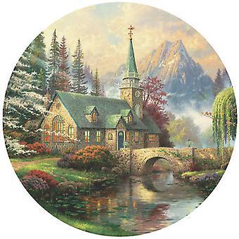 Puzzle - Ceaco - Thomas Kinkade - Dogwood Chapel 550Pcs New 2414-1