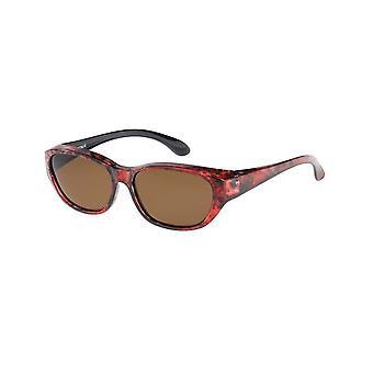 Óculos de Sol Conversão Unissex VZ-0049D vermelho