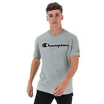 Men's Champion Large Logo T-Shirt in Grey