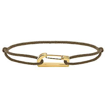 Rochet B186740 pulsera - KIM PVD amarillo cordón algodón Taupe R glable Femme