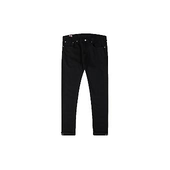 Edwin 'Made In Japan' Slim Tapered Green X White Selvage Jeans (Black)