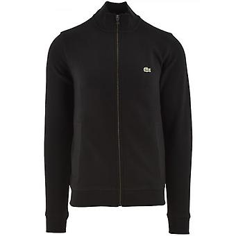 Lacoste Zippered Stand Up Collar Piqué Fleece Jacket