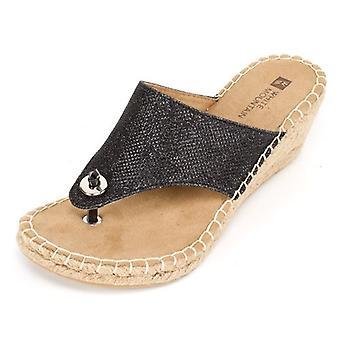 White Mountain Womens BeachBall Open Toe Casual Slide Sandals