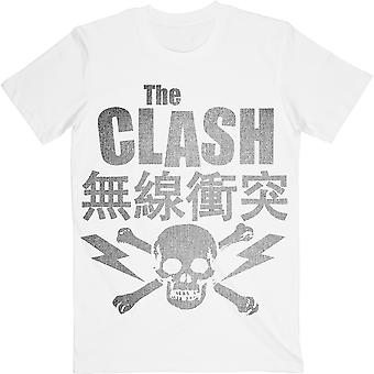 Hvid Clash Skull & Crossbones Officielle Tee T-shirt Unisex