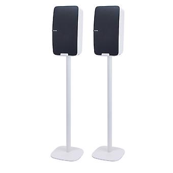 Stand de plancher Vebos Sonos Cinq blanc - ensemble vertical