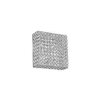 Ideale Lux Admiral - 4 licht vierkant plafond flush licht chroom, G9