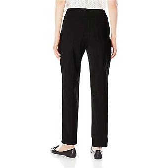 Ruby Rd. Women-apos;s Pull-On Solar Millennium Super Stretch Pant, Noir, 14