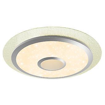 BRILLIANT Lampe Ronny LED Loftlampe 56cm hvid   1x 36W LED integreret, 2700lm, 3000-6000K   Med fjernbetjening   Lys