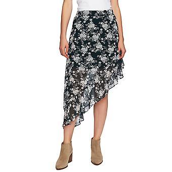 1.State | Hög-låg asymmetrisk blommig-print kjol
