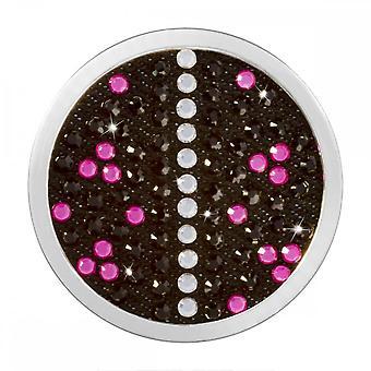 Nikki Lissoni Denim Dreams Pink Punk Medium Silver Coin C1474SM