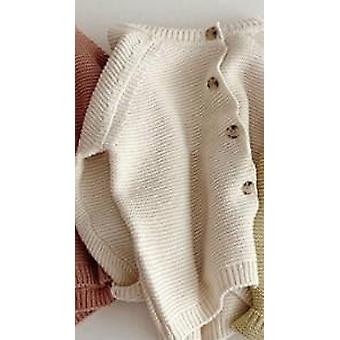 Autumn Winter Knitted Solid Color Cardigans Infant Kids Cute Long Sleeve