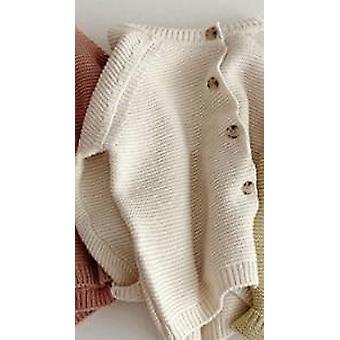 الخريف الشتاء محبوك الصلبة اللون الكارديجان الرضع الأطفال لطيف الأكمام الطويلة