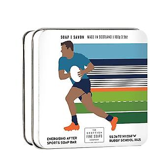 Rugby Themed 100g Tinned Soap Bar door Scottish Fine Soaps