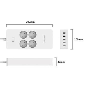 Electrical Socket Eu Plug- Extension Socket  Outlet Surge Protector  With 5x2.4a Usb