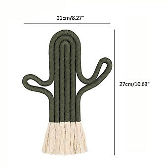 Cactus Shape Wall Hanging, Nordic Decoration Tapestry