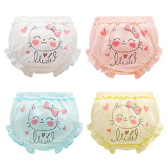 Kids Panties For Baby, Infant, Newborn - Solid Cute Bow Striped Dots Underpants