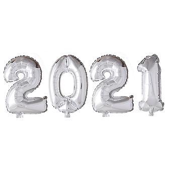 Folieballonger Silver 2021 | Studenten | Födelsedag | Fest