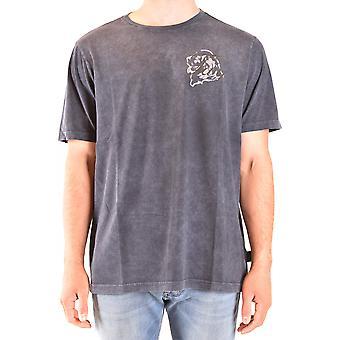 Fay Ezbc035081 Men's Blue Cotton T-shirt