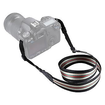PULUZ Stripe Style Series Band Neck Strap Camera Strap for SLR / DSLR Cameras (Noir)