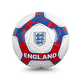 England Pride Voetbalvoetbal wit/blauw/rood - Maat 5