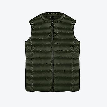 Autumn Duck Down Women's Short Vest Jacket Sleeveless, Portable Office Lady