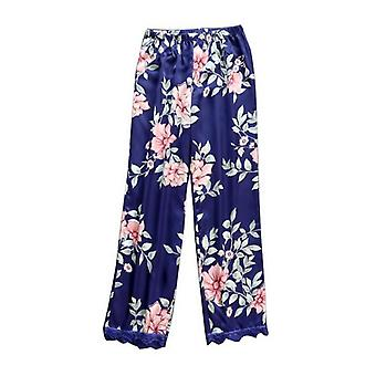 Casual Loose Floral Print Sleepwear Ladies Nightwear Workout Sexy Lace Homewear