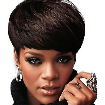 Women's Wig Ladies Chemical Fiber Wig Fashionable Realistic Short Curly Hair Head Cover