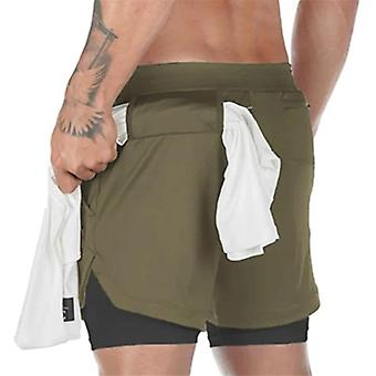 Doppeldecker Jogging Running Gym Fitness Workout Shorts