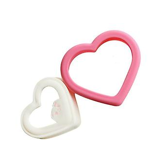 Family Tool Creative New DIY Parenting Manual Heart Shape Sandwich Cookies Mold