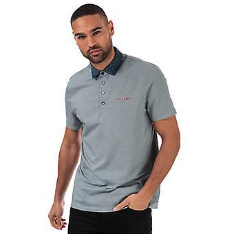 Men's Ted Baker Holein Stripe Polo Shirt in Blue