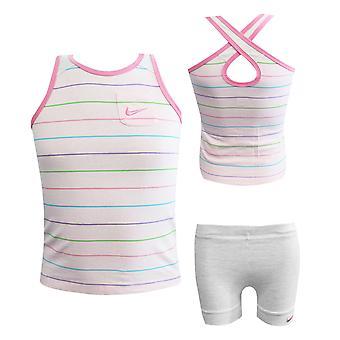 Nike 2 stykke spedbarn baby vest shorts sett jenter rosa 412803-616 RW52