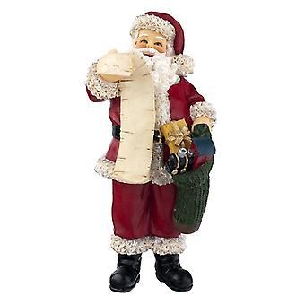 Casa de muñecas miniatura personas 1:12 Resina Padre Navidad Figura Santa Claus