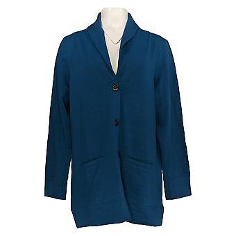 Cuddl Duds Women's Sweater Comfortwear Shawl Collar Cardigan Azul A368207