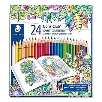 Staedtler 144 c24jb noris club colouring pencils, johanna basford edition - assorted colours, pack o