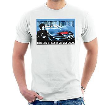 Knight Rider Chicks Gräva min bil män's T-shirt