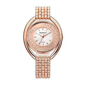 RENASCIMENTO REBIRTH RE079 Moda Mulheres Quartzo Relógio Senhoras Luxo Diamante Cinta de Aço Brac