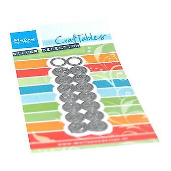 Marianne Design Craftables Schneiden Stanzen - Punch Die Smileys CR1508 21x10mm 23x84mm
