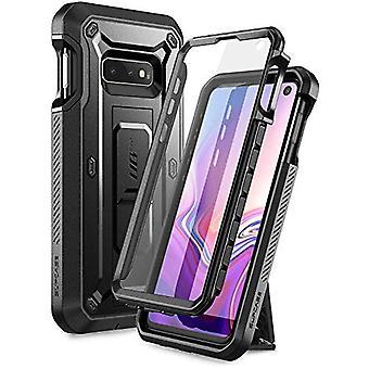 SUPCASE Unicorn Beetle Pro-serien designad för Samsung Galaxy S10e Case (2019 Release) Helkropps dual layer robust med hölster och kickstand med inbyggt skärmskydd (svart)