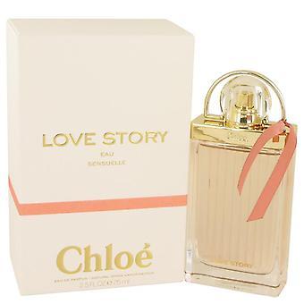 Historia de amor de Chloe Eau Sensuelle Eau De Parfum Spray por Chloe 2.5 oz Eau De Parfum Spray