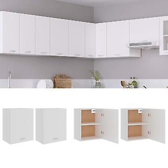 Hanging Cabinets 2 Pcs White 50x31x60 Cm Chipboard