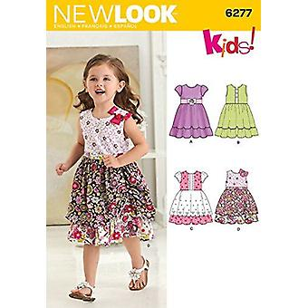 New Look Sewing Pattern 6277Girl Childs Dress Size 1/2-4 Euro 1/2-4
