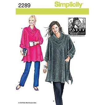 Simplicity Couture Pattern 2289 Manque Loose Fitting Tunic & Knit Pants size XS-XXL